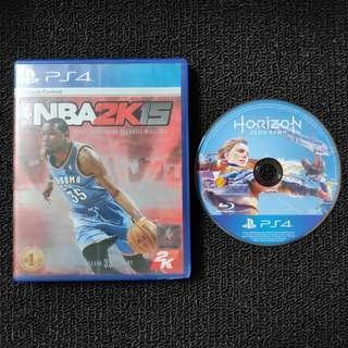 NBA2K15 And Horizon Zero Dawn