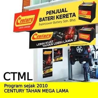 Car Battery bateri kereta Delivery Service