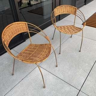 藤圓椅 2張