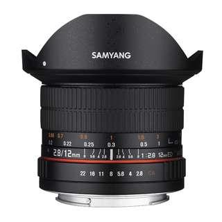 🚚 Samyang 12mm f2.8 ED AS NCS Fisheye Lens (Canon, Nikon AE and Sony E Mount 12mm F2.8 f 2.8)