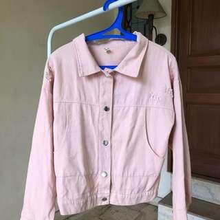Pink jeans Jacket