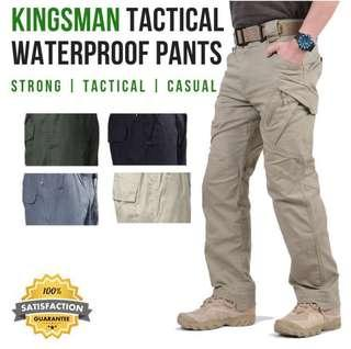 🚚 Kingsman Tactical Waterproof Pants - Grey (Size S)