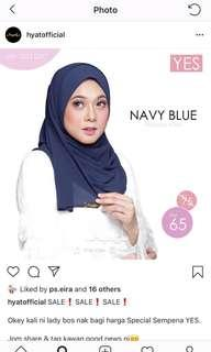 Hyat Navy Blue Instant Shawl size M