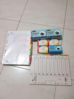 New unused bundle sale stationery as shown in photos, total 10 items for $6 only. 3 boxes SureMark Blinder clips, 3 boxes paper clips, 4 pkt File index dividers, selling very cheap
