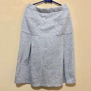 Grey Skirt // Rok Abu-abu