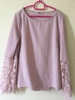 Padini Pink Lace Top #MMar18