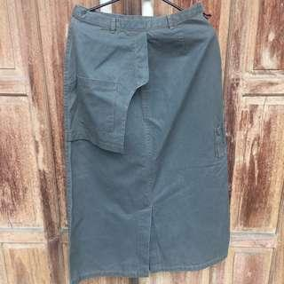 Army Long Skirt Jeans