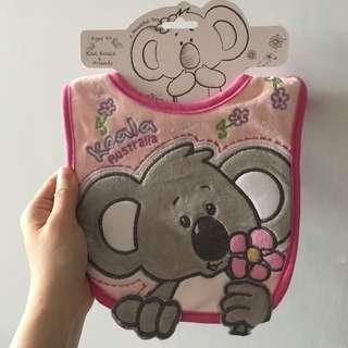Baby girl koala bib 樹熊口水肩
