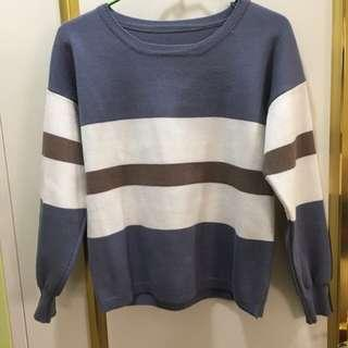 🚚 二手~條紋毛衣