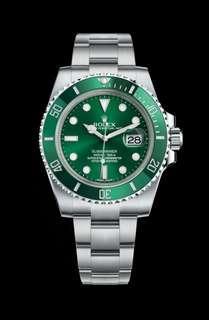 🚚 Rolex 116610LV Submariner Hulk