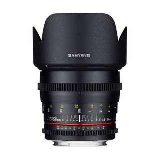 🚚 Samyang 50mm T1.5 AS UMC Cine DS Lens for (Canon EF mount 50mm T1.5 t 1.5)