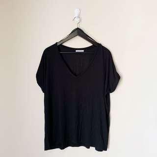 Zara Black Loose Tshirt