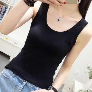 New Black Sleeveless T-Shirt (Size S)