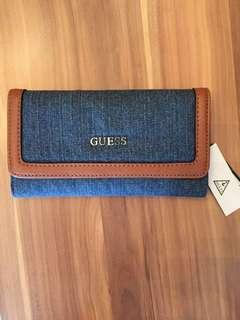 Authentic New Guess Wallet in Denim material from US