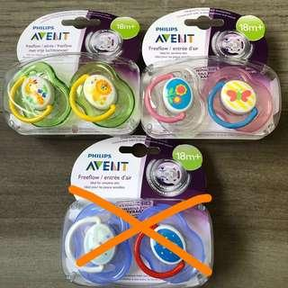 🚚 Philips Avent Pacifiers Soothers 18m+ 2pcs