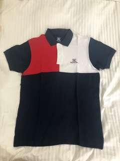 Polo Shirt Zieg & Zera merah putih navy
