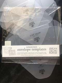 Envelope and envelope liner template