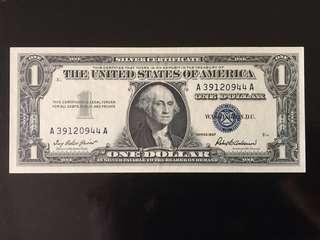 Silver Certificate ~ United States $1 ~ Series 1957 ~