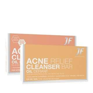 😍 WAH $0.95 CRAZY DEALS!! 💜CLINICALLY TESTED TO CURE ACNE IN 2 WEEKS!!💜JF Acne Relief Cleanser Bar | 20gm