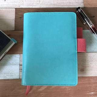 Faux Leather/felt Hobonichi cover with grid lines notebook