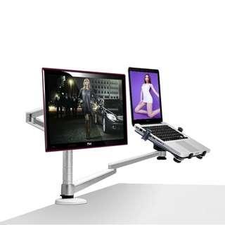 🚚 UP OA-7X DUAL LAPTOP STAND DESKTOP MOUNT (LCD+LAPTOP)