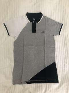 Polo shirt Zieg & Zera abu abu putih hitam