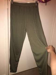 Olive Green Stretchy Trousers