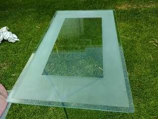 Large 2x set glass table