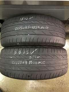 225/50/17 t001 rft used tyre $50x2