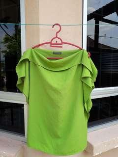 Message Green Ladies Blouse #MMAR3