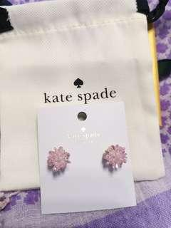Kate Spade Earrings pink flying colours