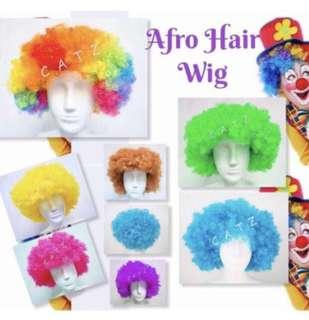 < ZHOELUX > Afro Hair Wig Pom Pom Hair Wig Party Accessories Cosplay Performance D & D Dressed Up Party Items Props