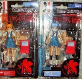 Microman Evangelion EVA Movie figure set ASUKA & REI Takara Tomy  (SET of 2)