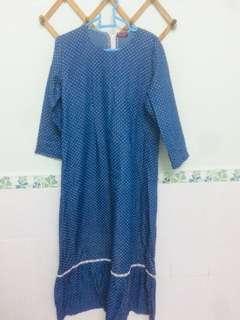 Cotton Polka Dot Dress / Jubah (no brand)