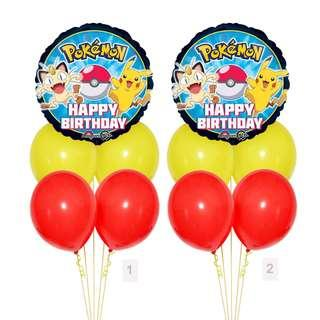 (SAVE $2) Pokemon Happy Birthday Balloon Party Package Party Wholesale Singapore