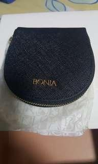 New Black BONIA Coin Purse