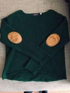 dex sweater with elbow patches