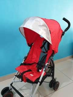 Super Lightweight Foldable Stroller with 8 wheels (Red)
