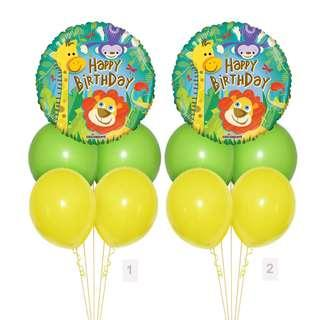 (SAVE $2) Smiling Safari Happy Birthday Balloon Party Package Party Wholesale Singapore