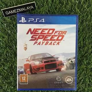 [NEW] PS4 NEED FOR SPEED PAYBACK R2 - ACCEPT TRADE-IN | NEW PS4 GAMES (GAMEZMALAYA)