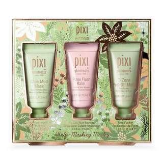PIXI Multi-Masking Medley (Glow Mud Mask, Rose Flash Balm, T-Zone Peel Off Mask)