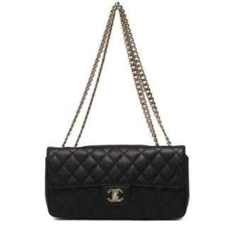 CHANEL Black Caviar Classic Single Flap Bag