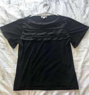 A/C Design Black Blouse