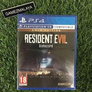 [NEW] PS4 RESIDENT EVIL 7 GOLD EDITION R1 - ACCEPT TRADE-IN | NEW PS4 GAMES (GAMEZMALAYA)
