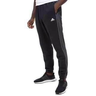 🚚 Adidas Men's Black Track Pants with stripes