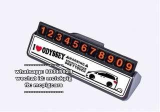 honda rb1 rb3 odyssey 電話號碼牌 白色