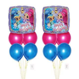 (SAVE $2) Shimmer And Shine Birthday Balloon Party Package Party Wholesale Singapore