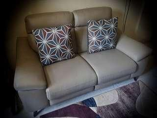 Full leather electric recliner sofa