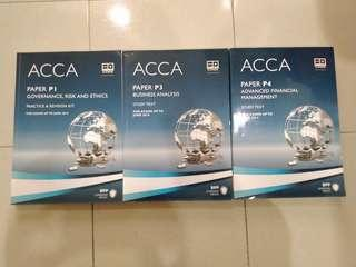 ACCA text book P1, P3 and P4