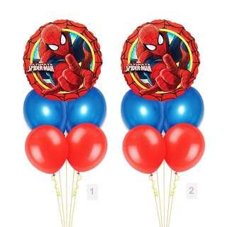 (SAVE $2) Spiderman Marvel Red Border Balloon Party Package Party Wholesale Singapore
